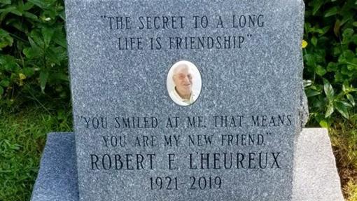 Robert L'Heureux Memorial Headstone